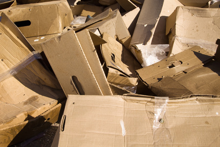 Packaging packs ejected at the dump harmful to the environment Stock Photo