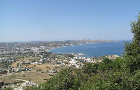 Coast of Zakynthos island with Navagio beach in Greece Stock Photo
