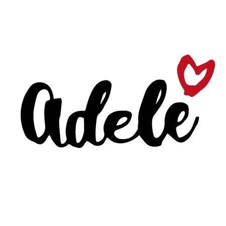 Female name Adele. Hand drawn vector girl name. Drawn by brush words for poster, textile, card, banner, marketing, billboard.  イラスト・ベクター素材