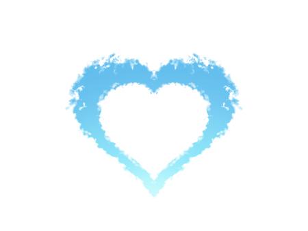 Blue heart symnol