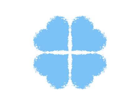 Blue clover symbol Фото со стока
