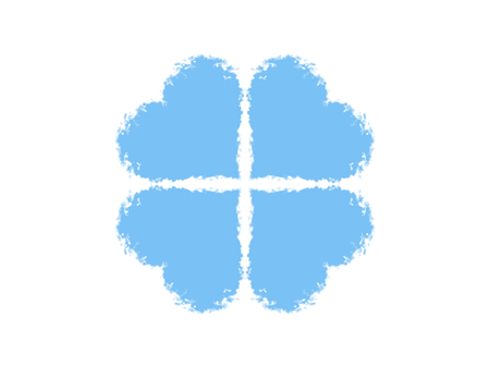 Blue clover symbol 写真素材