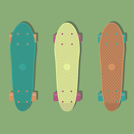 known: 3 plastic skateboards, known within the industry as a short cruiser