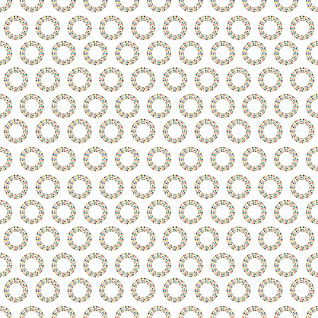 interesting: The colored abstract seamless pattern with circles of party flags on white background. Illustration