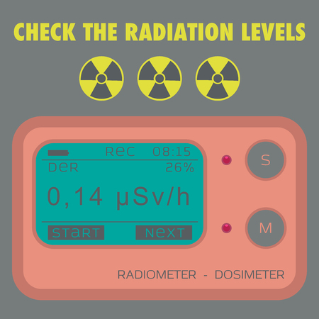 gamma radiation: Gamma Radiation Personal Dosimeter. Illustration