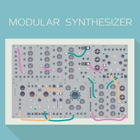 Limited edition of modular synthesizer with wires.