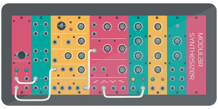 synthesizer: The colored modular synthesizer-analog synthesizer