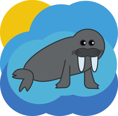 walrus: the walrus on the abstract background