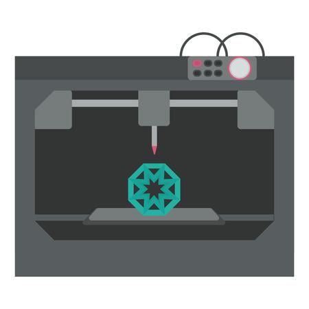 3d: 3d printing technology, 3D printer. Illustration