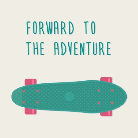 cruiser: Plastic skateboards, known within the industry as a short cruiser penny board. Vector illustration. Illustration