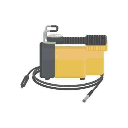 Air compressor for car. Vector illustration. Illustration