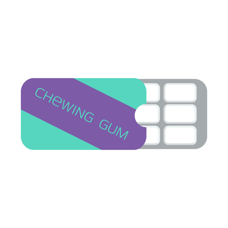 chewing gum: Chewing gum in a blister pack, mint flavor.