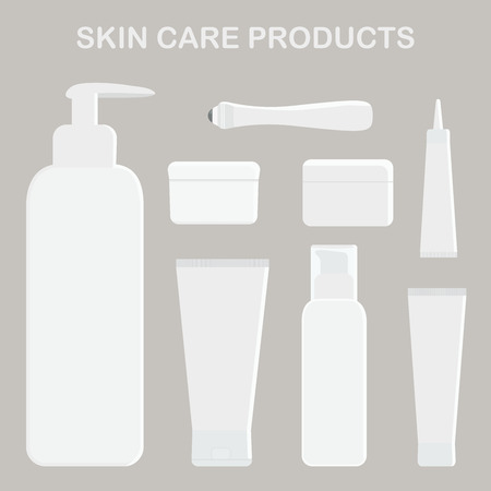 Skin care products. Cream for eyes, face and body.