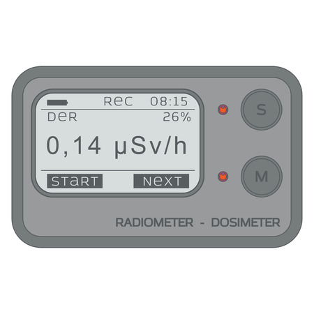 toxic accident: Gamma Radiation Personal Dosimeter. Radiometer.