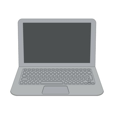 Laptop with touchpad and keyboard.Vector illustration.