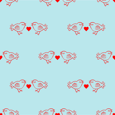 facing: Vector seamless patterns. Red color. Endless texture can be used for printing onto fabric and paper or scrap booking. Valentines day background for invitation.