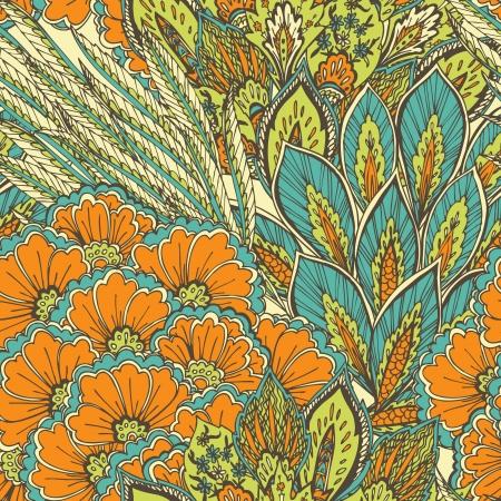 pluma de pavo real: este patrón sin fisuras