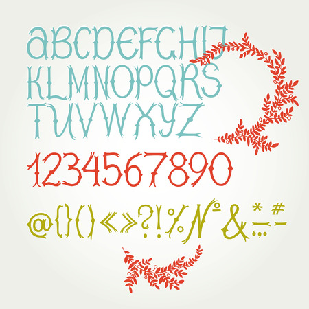Display font  Fantasy Vector