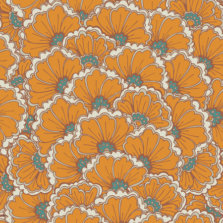Vector seamless eastern pattern  Illustration
