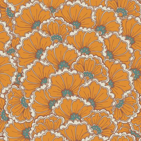 Vector seamless eastern pattern  Illusztráció