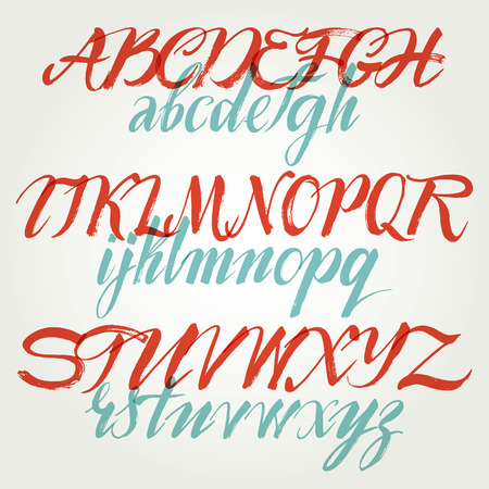The alphabet in calligraphy brush Stock Vector - 28307749