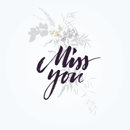 miss: Miss you card