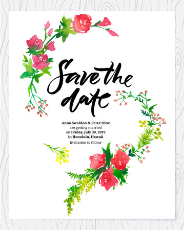 wedding table decor: Save the date invitation card template