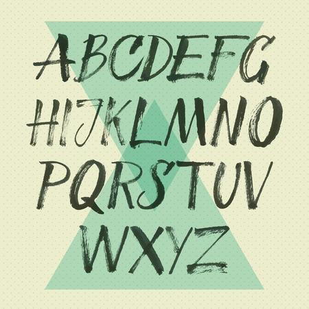abecedario graffiti: alfabeto Dibujado a mano las letras Vectores