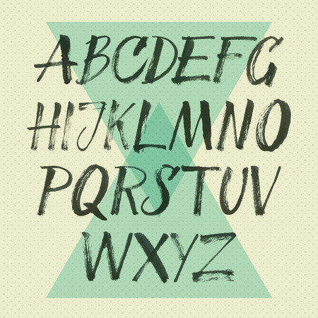alphabet Hand drawn letters