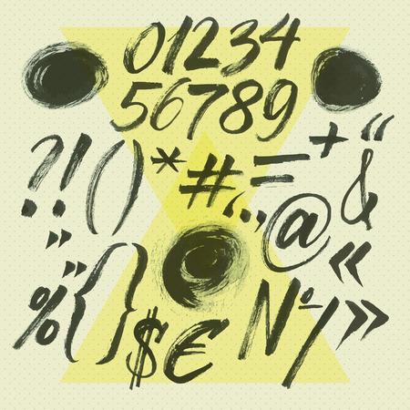 Hand drawn symbol letters Illusztráció