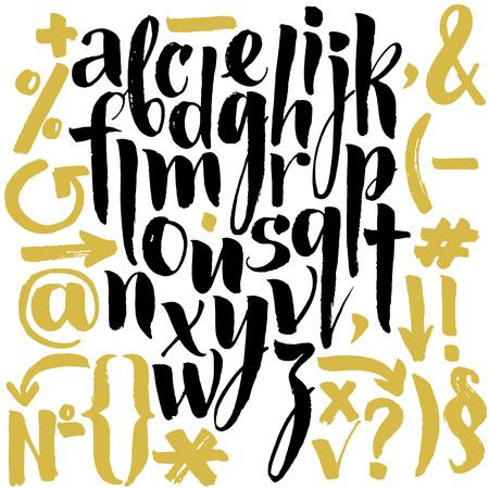 abecedario graffiti: Dibujado a mano las letras