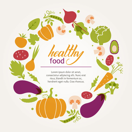 Set van groenten Vector Illustratie