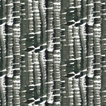 black leopard: Hand drawn pattern with brushed prints Illustration