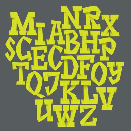 pila bautismal: El alfabeto del. Dibujado a mano las letras. Las letras del alfabeto