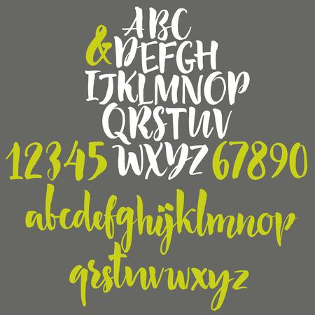 numeros: Cartas escritas a mano del alfabeto