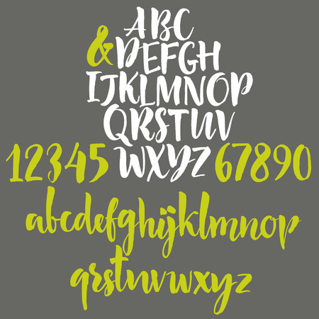 graffiti alphabet: Handwritten letters of the alphabet