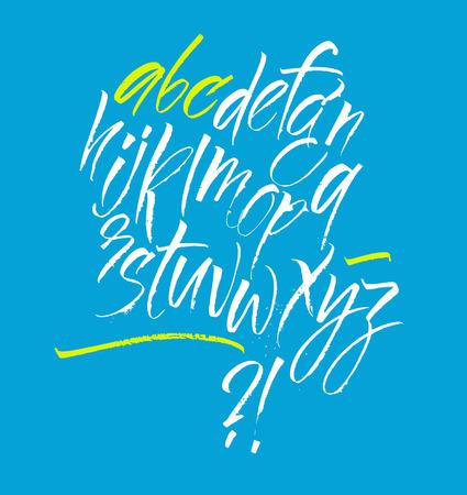 tipos de letras: Letras y n�meros escritos a mano. Alfabeto