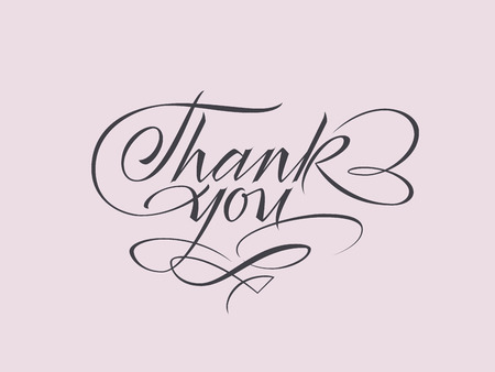 Vector lettering for phrase Thank you. Thanksgiving card. Appreciating