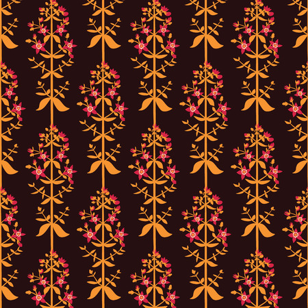 Saint Johns wort flowers seamless pattern on pink background