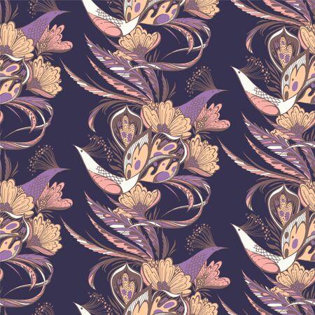 Paradise birds pattern