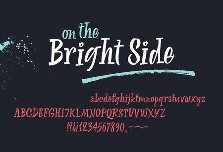 On the Bright Bide handwritten font. Script. Calligraphic set