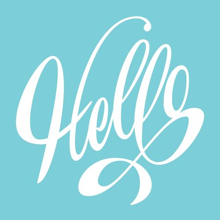Hello lettering. Poster, card, wall decor