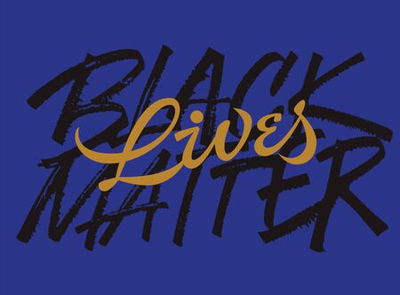 Black lives matter slogan grungy lettering 矢量图像