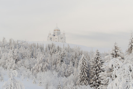 russian orthodox: Russian Orthodox Christian Church in winter