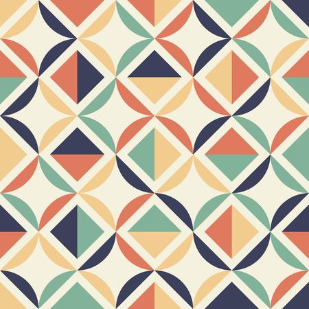Seamless geometric pattern. Retro colors.