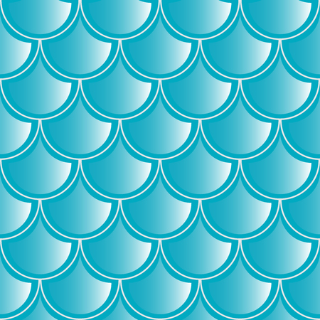 ideally: Seamless pattern. Texture of fish scales and waves. Bright marine color. Ideally smooth seam. Illustration