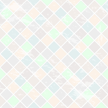 Seamless pattern with rhombuses. Wall with the effect of antiquity. Gentle colors. Illustration