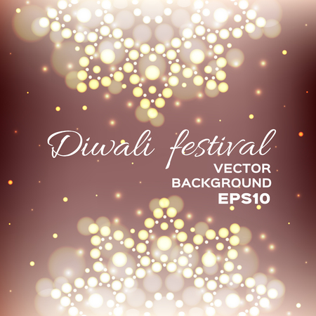 festival of lights: illustration of Diwali festival. Indian Diwali festival background. Greeting card with beautiful lights.
