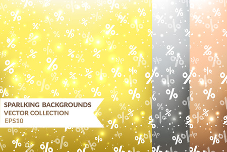 Vector backgrounds with percents. Sale, shopping EPS10