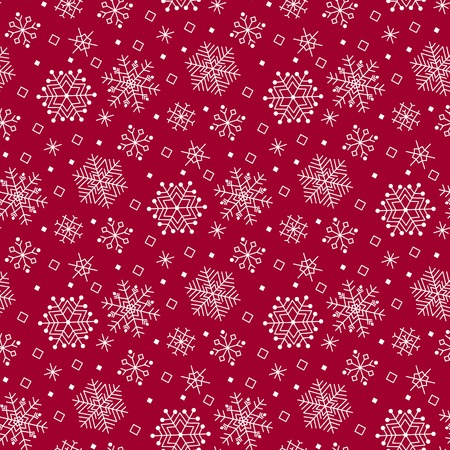 Winter seamless pattern with snowflakes. Christmas background. Illustration
